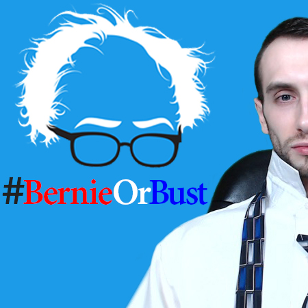 Bernie Or Bust Logo Image of David K?