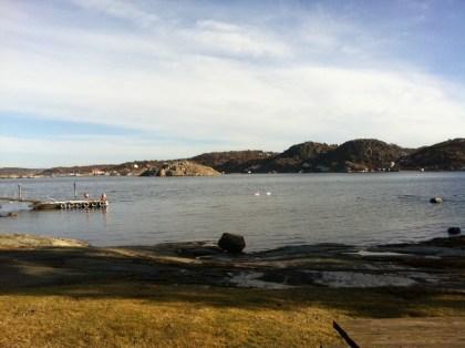 Fantastiskt väder vid Ågrenska imorse