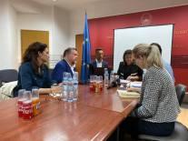 På plats i Skopje för samtal med socialdepartementet i Nordmakedonien. Samtalet handlade om de hemska institutionerna där människor med funktionsnedsättning tvångsplaceras. Mycket mer om detta besök nästa vecka.