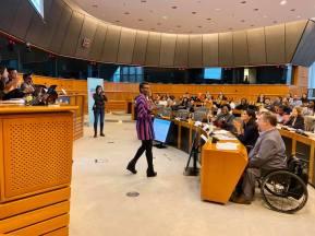 Jag fick äran att lyssna på unga flickor drabbade av våld för att sedan ha ett samtal om vad EU kan göra för att hjälpa dem.