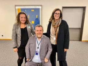Trevlig träff med Maria Montefusco från Sällsynta Diagnoser och Valentina Botarelli från EURORDIS.