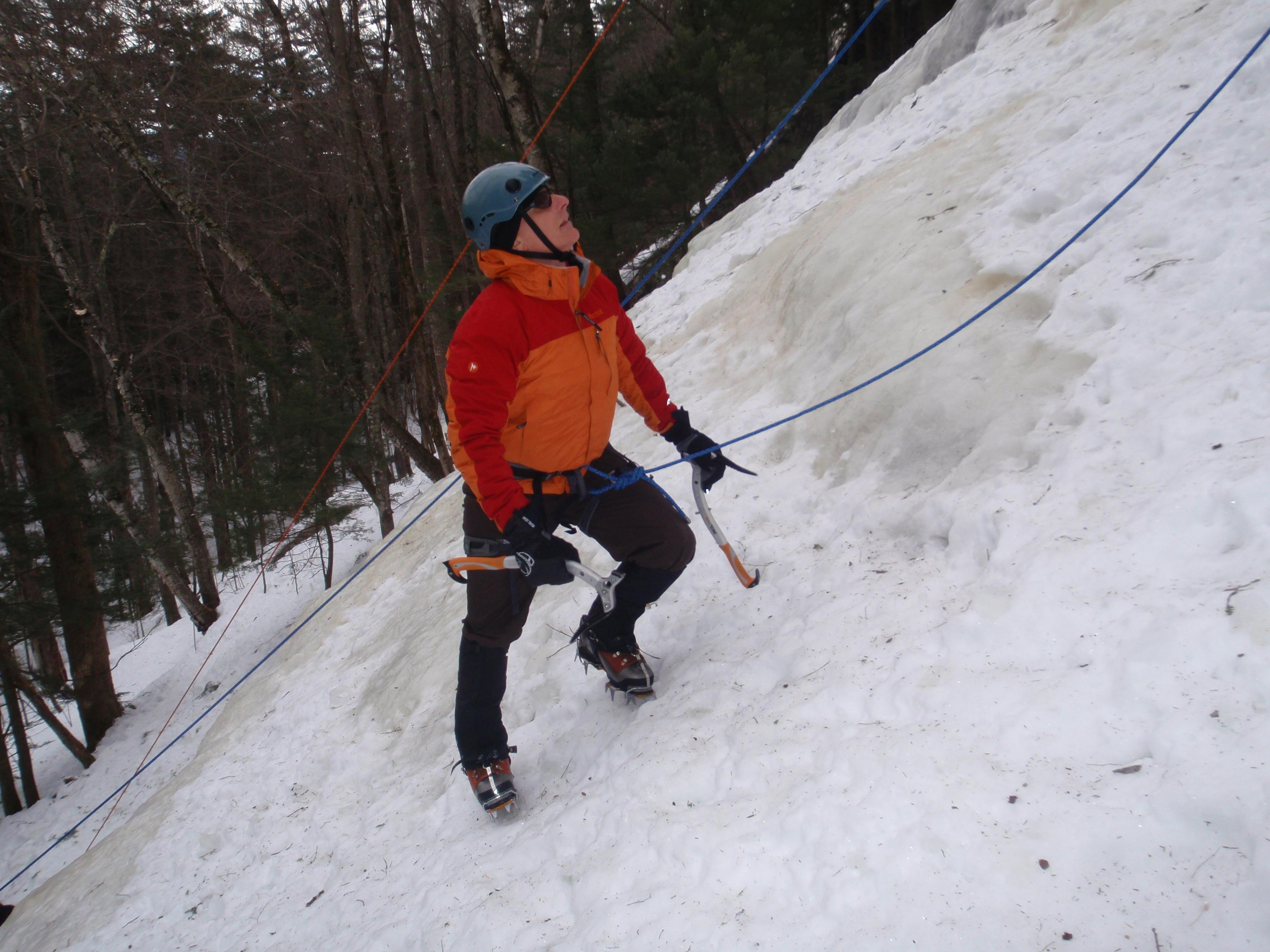 Bob prepares for the steeps...