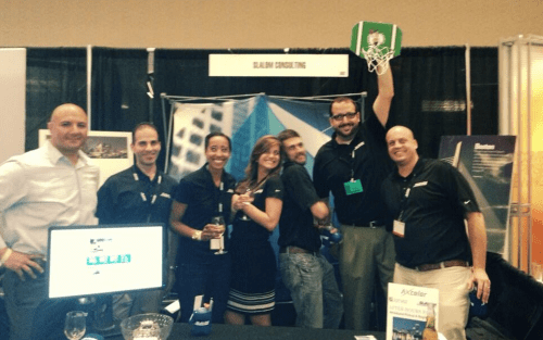 The Slalom team at SPTechCon, yeah, the tall one is me.