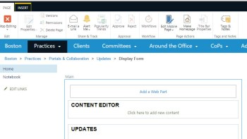 added content editor web part