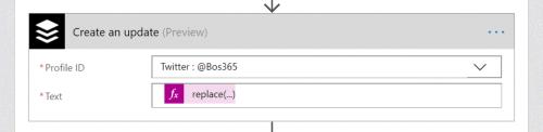 Create Update in Buffer from Flow