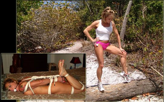 Muscle Model Nude Hogtie