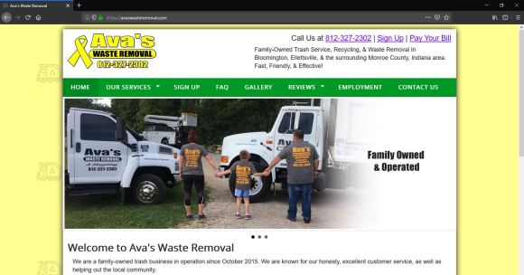 Custom Website for avaswasteremoval.com