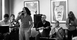 With Karen Quiroz and Samba Meu