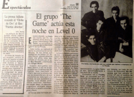 The Game en Level 0 Prensa