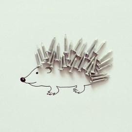 Erizo de clavos #hedgehog #sketch