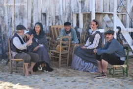 """Foto de Eva Huarte - Salvador Vázquez Vives, Pilar Ballester Juvanteny, """"El Capità"""", Rosalina Carrera Amoedo y David Martín Surroca"""