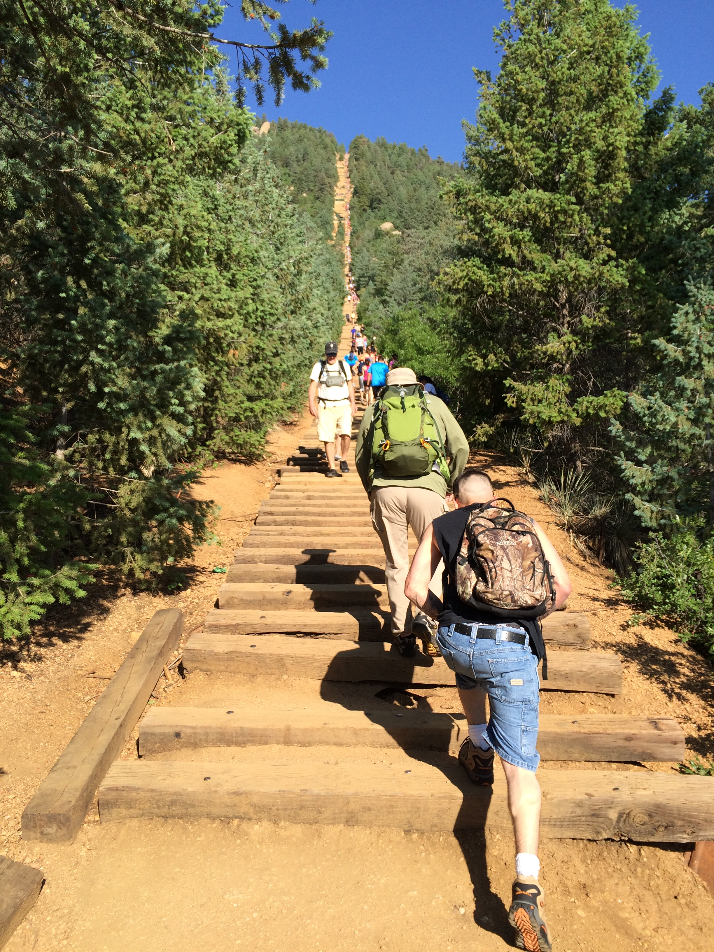 View up the Manitou Incline