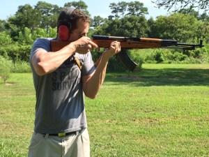 Author David McCaleb, shooting SKS