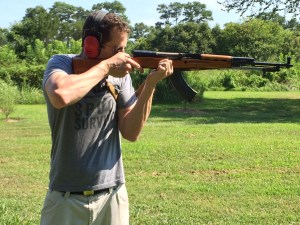 Author David McCaleb, shooting SKS