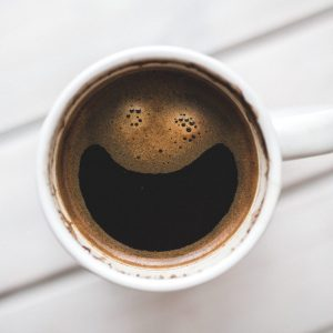 coffee cup happy face