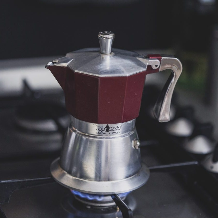 moka pot coffee brewer