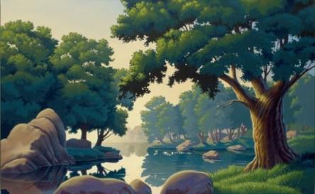 "daydream reflections | 30"" x 48"" acrylic on canvas"