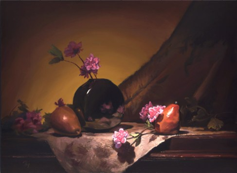"""golden pears and roses 