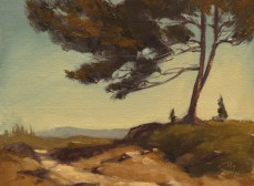 """big bear trail   6"""" x 8"""" oil on canvas board SOLD private collection"""