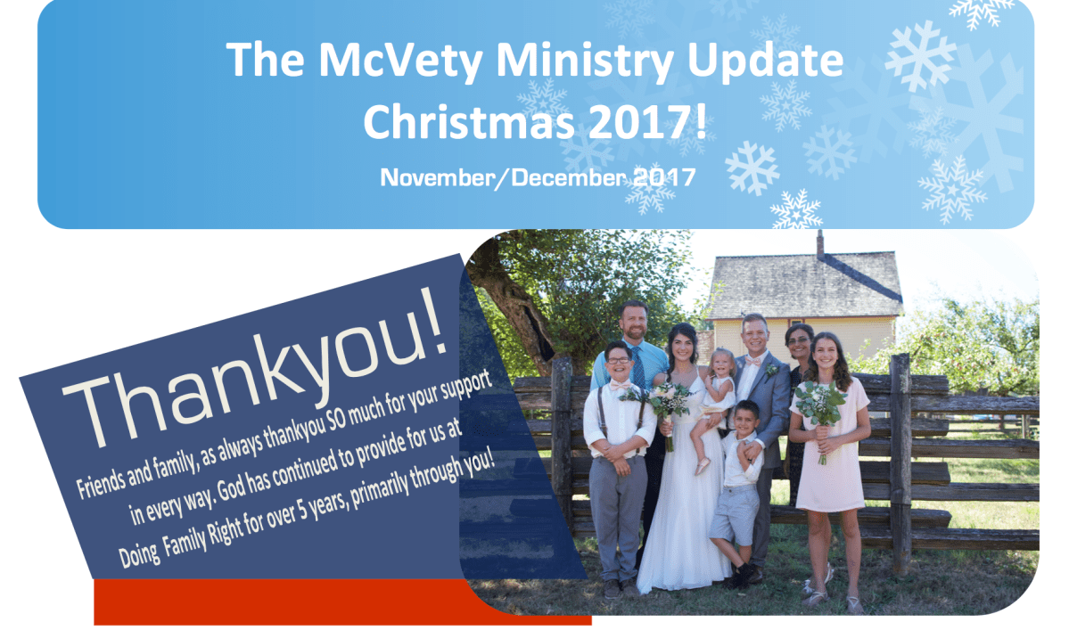 Our Year End 2017 Ministry Update