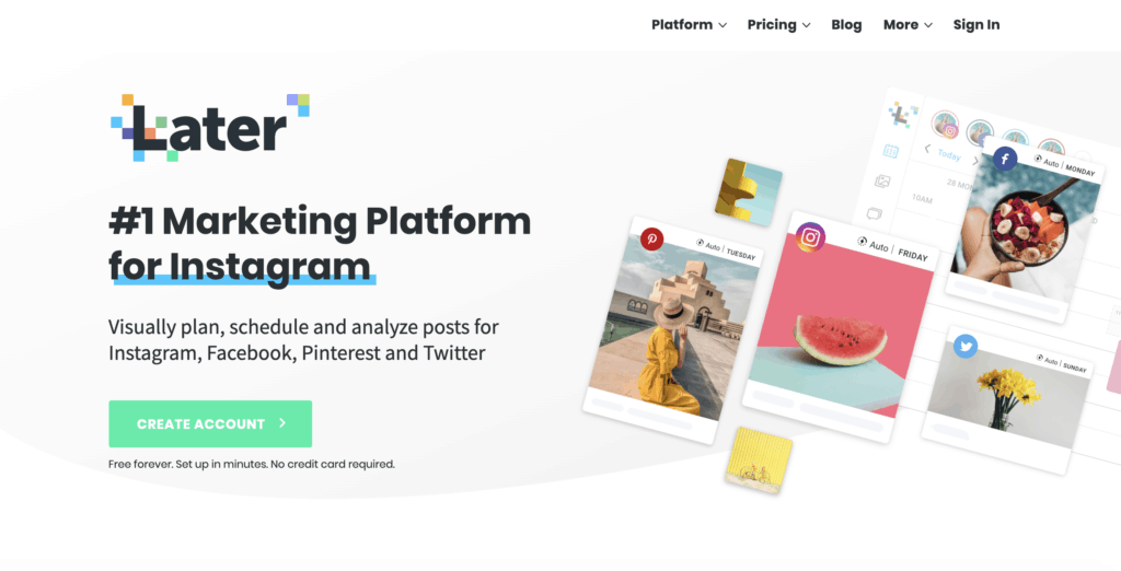 Later - one of the best social media tools 2020