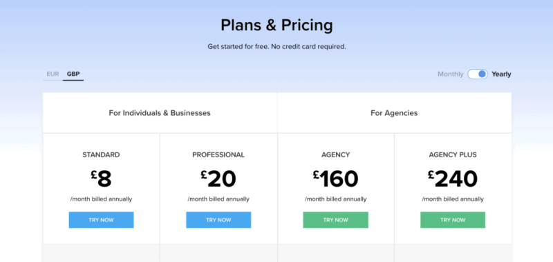 Zoho social pricing plans