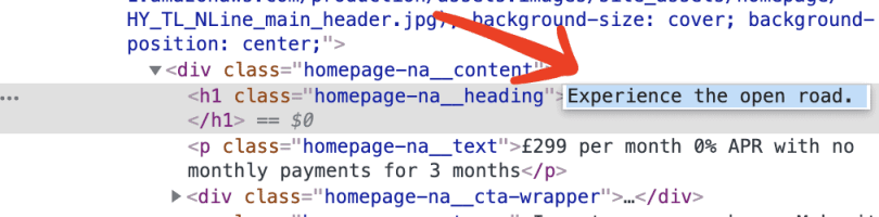Inspect the code, you can change the text to mock up your own