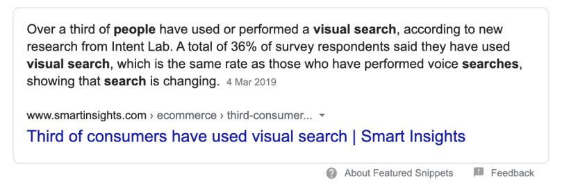 The search engine revolution is coming: over 1 in 3 people have performed visual searches.