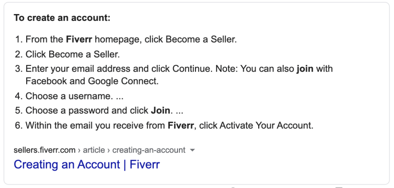 How to create an account on Fiverr