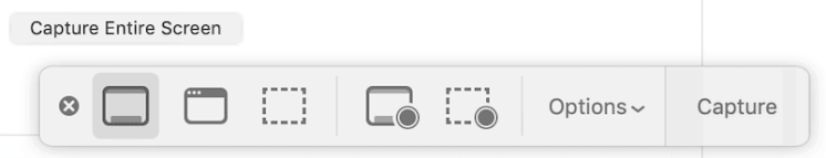 The screenshot app on your mac