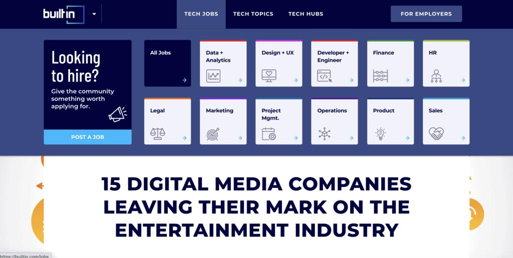 Digital media companies