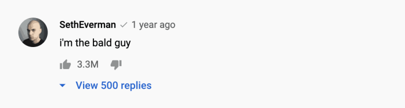 The most liked YouTube comment (correct as of 2020)