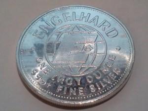 1982 Engelhard American Prospector 1oz .999 Fine Silver Round – Uncirculated - Dorsal