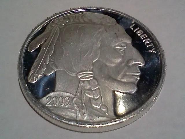 Liberty Indian Head Buffalo 2003 Silver 1 troy oz .999 FINE Round