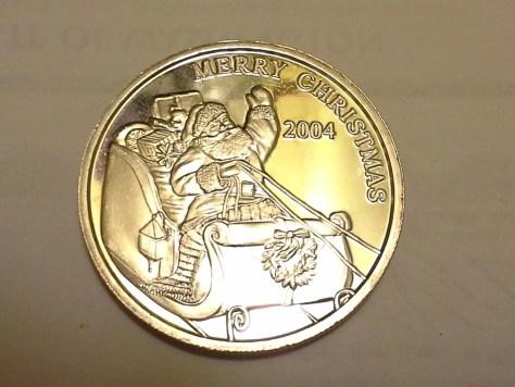 1 OZ .999 Fine Silver Christmas Round - 2004