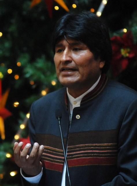 Evo Morales - President of Bolivia in Brazil 2007