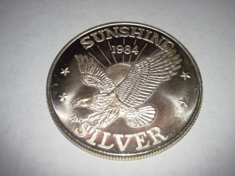 1 OZ .999 Fine Silver Sunshine Mint 4 Star Silver Eagle Round – 1984