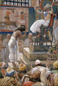 Joseph and His Brethren Welcomed by Pharaoh, watercolor by James Tissot 1836-1902