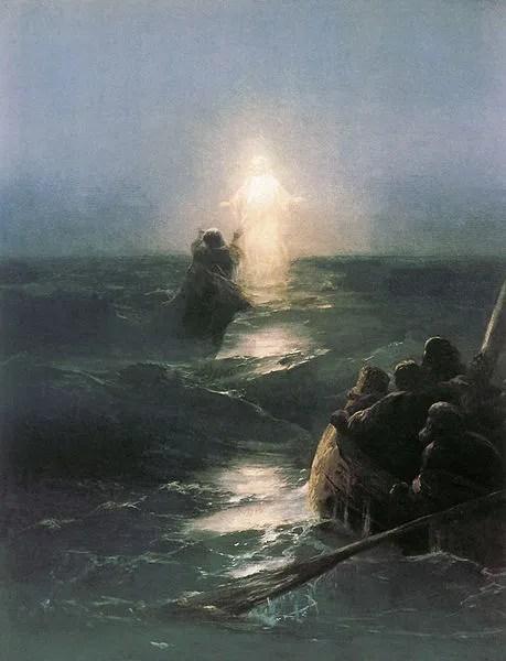 """""""Walking on Water"""" By Ivan Aivazovsky 1890"""