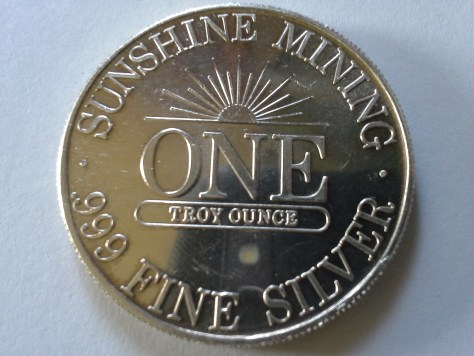 1 OZ .999 Fine Silver Sunshine Mint 4 Star Round – 1989