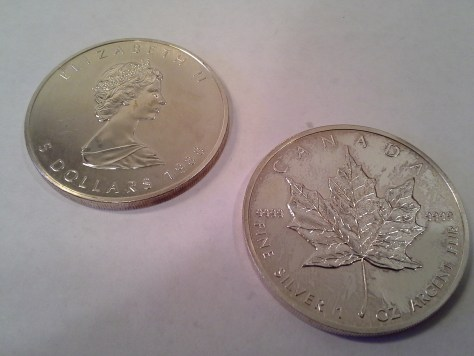 1988 Silver Canadian Maple Leaf
