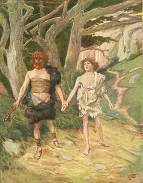 Cain leadeth Abel to Death by James Tissot