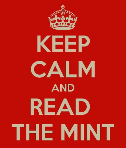 Keep Calm and Read The Mint