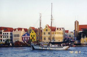 Sailing through Willemstad on Curacao