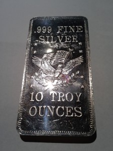 10 ounce .999 Fine Silver Bar - Modern Patriotic Eagle Design by American Precious Metals