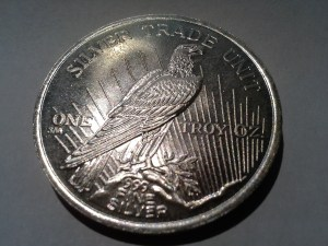 1 OZ .999 Fine Peace Dollar Round struck in 1987