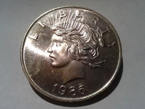 1 OZ .999 Fine Peace Dollar Round struck in 1986