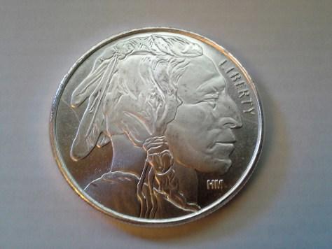 Highland Mint Silver American Indian & Buffalo 1 OZ .999 Fine Silver Round