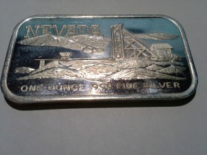 1 oz .999 Fine Silvertowne Nevada Mine Panorama Silver Bar