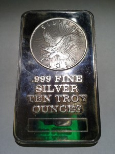Sunshine Mint .999 Fine Silver Bar 10 Troy Ounces